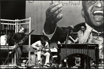 during the Lionel Hampton Jazz Festival in Moscow, Idaho, USA with Matt Brubeck, Cello and Lionel H....., Vibraphone ! (Photo : Stéphane Ouzounoff)