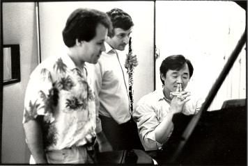 during the Poulenc's recording with Claude Villevieille, Oboe and Kun Woo Paik, Piano (Photo : Stéphane Ouzounoff)